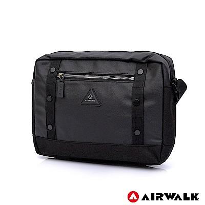 【美國 AIRWALK】輕量雅痞風尚休閒側背包-黑色