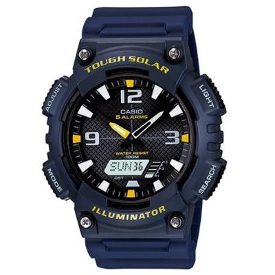 CASIO 新一代光動遊俠雙顯運動錶(AQ-S810W-2A)-黑面X藍/46.6mm