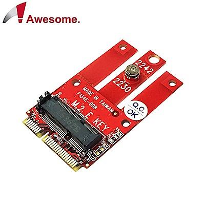 Awesome PCIe & USB M.2 Wireless模組轉mPCIe轉接卡