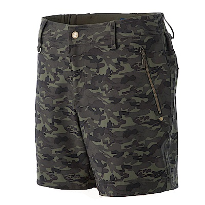 【Wildland 荒野】女RE迷彩時尚抗UV短褲綠