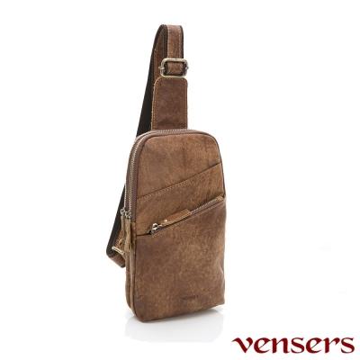 vensers小牛皮潮流個性包~胸包(NE882801磨沙皮)