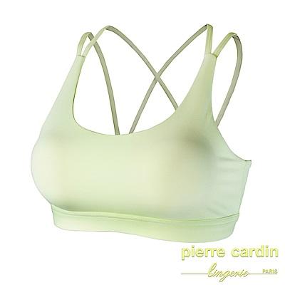 【Pierre Cardin皮爾卡登】輕感美背吸排 無鋼圈運動內衣(黃色)