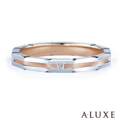 A-LUXE 亞立詩鑽石 PT900鉑金情侶結婚戒指-女戒