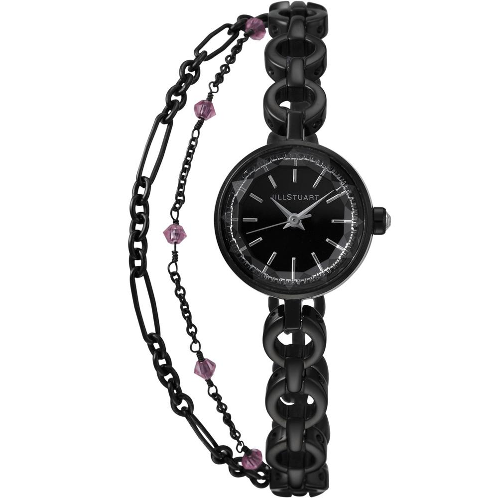 JILL STUART 秀氣優雅時尚腕錶-黑/19mm