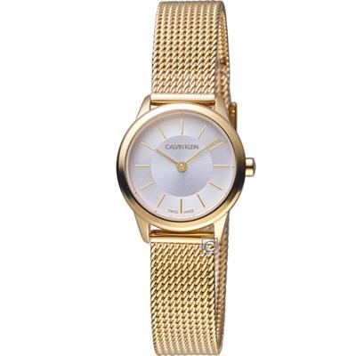 Calvin Klein Minimal 極簡米蘭帶腕錶(K3M23526)金色/24mm
