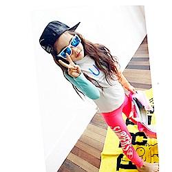Biki比基尼妮泳衣   白虹長袖泳衣兒童泳衣小朋友(M-4XL)
