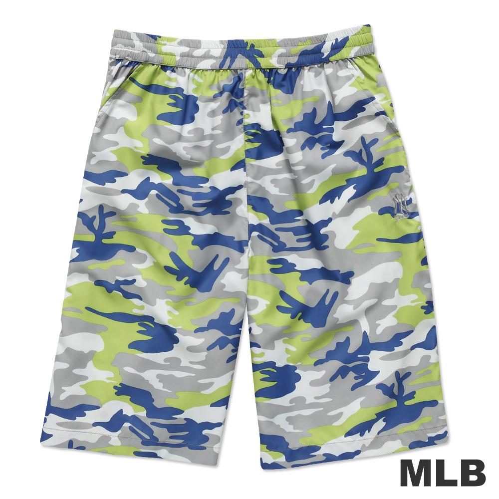 MLB-紐約洋基隊風衣布迷彩海灘褲-淺綠(男)