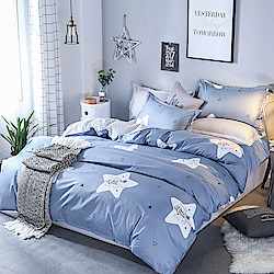 Ania Casa 幸運星 單人兩件式 柔絲絨美肌磨毛 台灣製 單人床包枕套兩件組