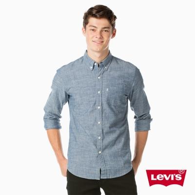 Levis 牛仔襯衫 男裝 經典單口袋 簡約素面