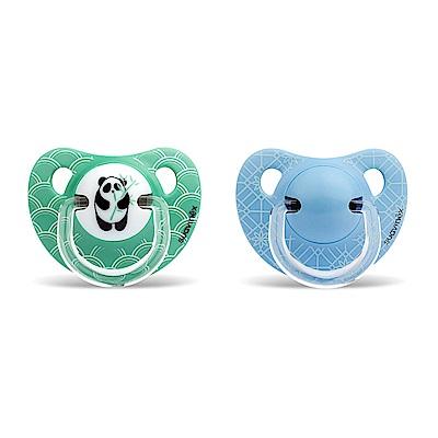 奇哥 suavinex 標準拇指型安撫奶嘴2入組+6M-綠熊貓