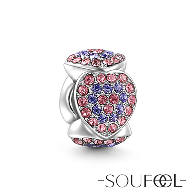 SOUFEEL索菲爾 925純銀珠飾 芳心(紫) 串珠