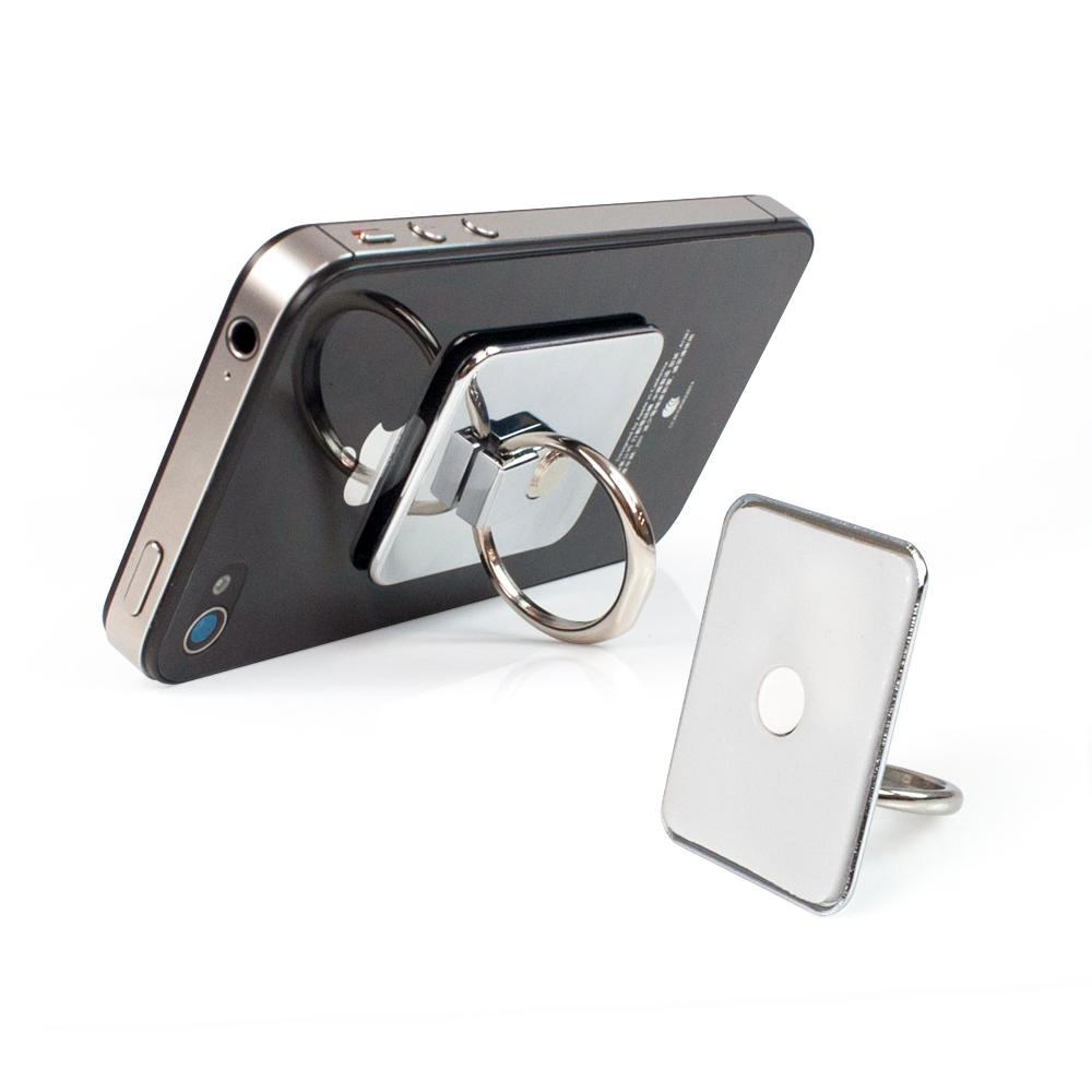手機/平板專用 360度旋轉指環支架-鏡面銀