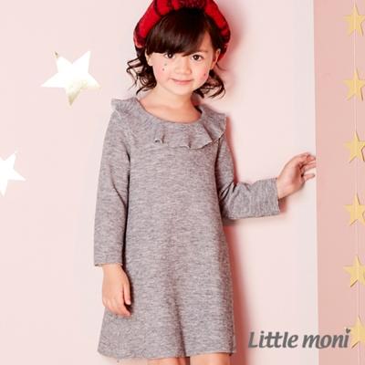 Little moni 荷葉領洋裝 (共2色)