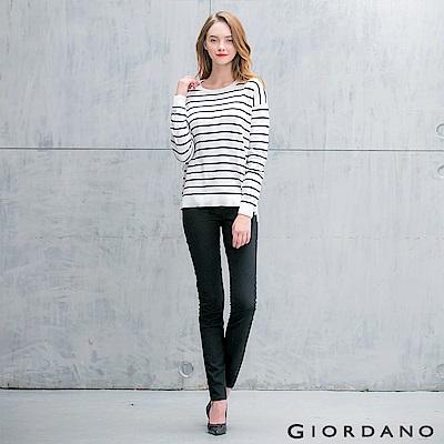 GIORDANO-女裝中腰標準窄管休閒褲-09-經