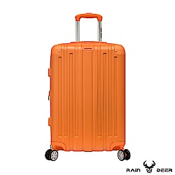 RAIN DEER 米克斯24吋ABS鑽石紋防刮行李箱-亮麗橘