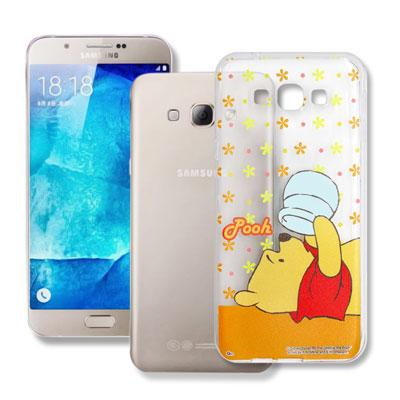 迪士尼授權 Samsung Galaxy A8 透明軟式手機殼(好奇維尼)