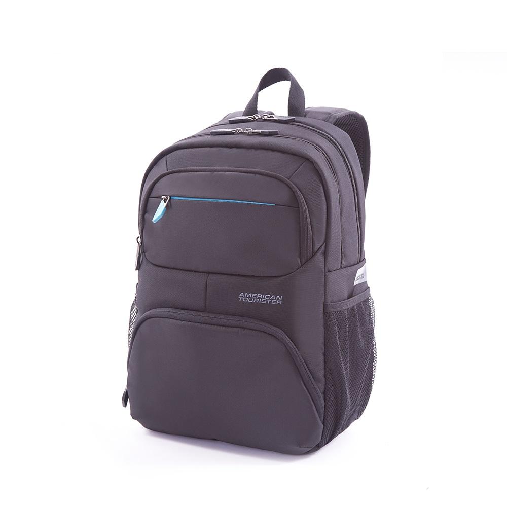 AT美國旅行者 Amber商務系列筆電後背包(灰藍)
