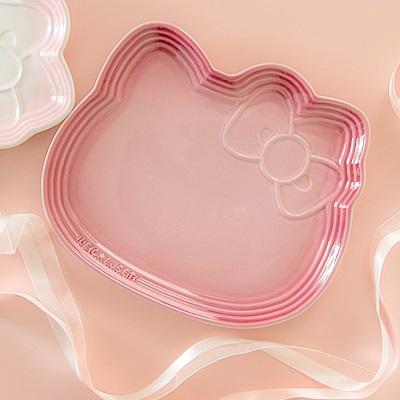 LE CREUSET x Hello Kitty瓷器造型餐盤(櫻花粉)