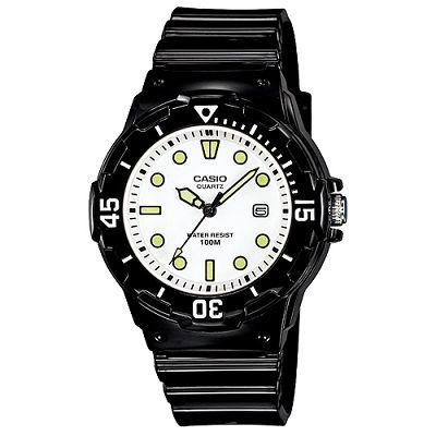 CASIO潛水風運動休閒腕錶LRW-200H-7E1-白x螢光刻度34mm