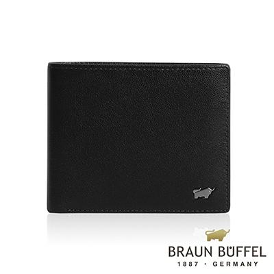 BRAUN BUFFEL 德國小金牛 - LUIS路易斯系列4卡零錢皮夾 - 黑色