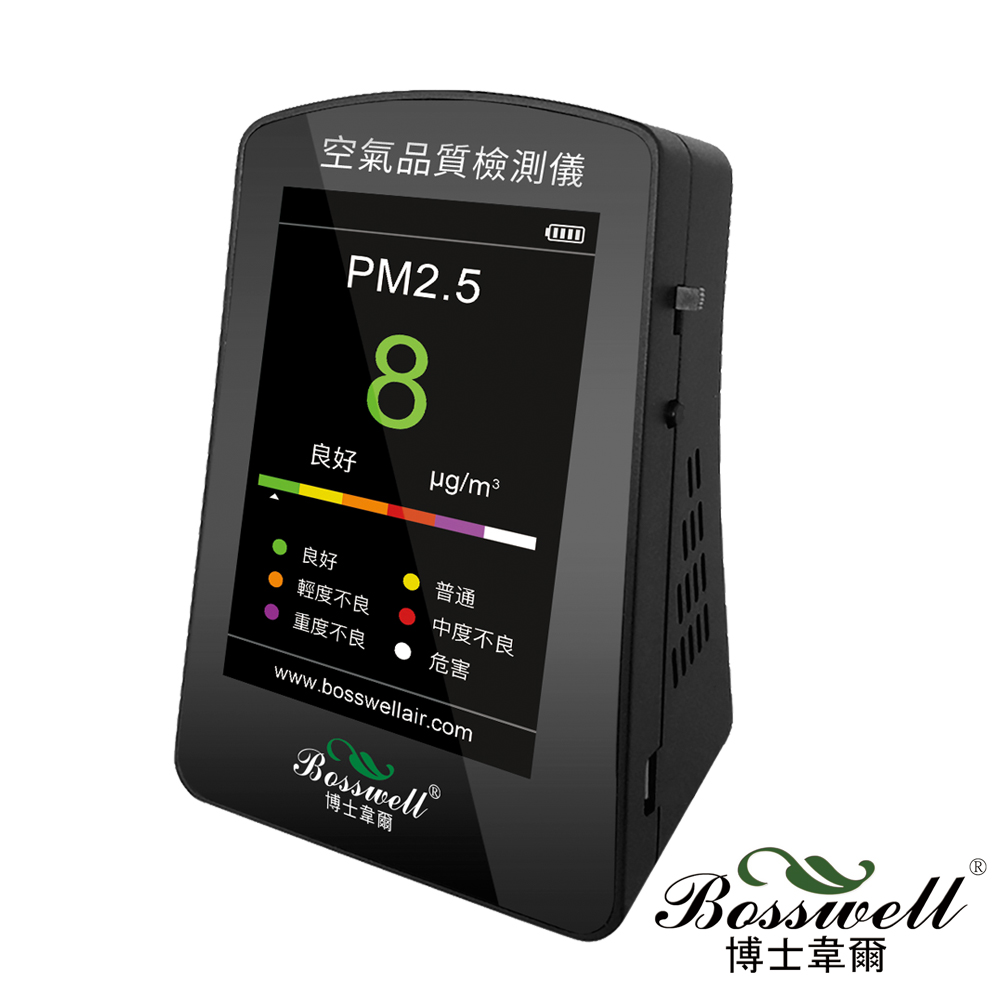 BOSSWELL博士韋爾 PM2.5空氣品質偵測儀PD-01-BK