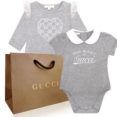 GUCCI純棉包臀衣-3/6M+GUCCI嬰幼兒長袖上衣-0/3M