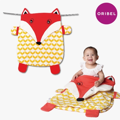 【ORIBEL奧麗貝】Peripop萌趣多功能萬用被/寶寶毯/收納袋-小狐狸