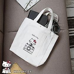 KITTY相機印圖帆布包-OB大尺碼