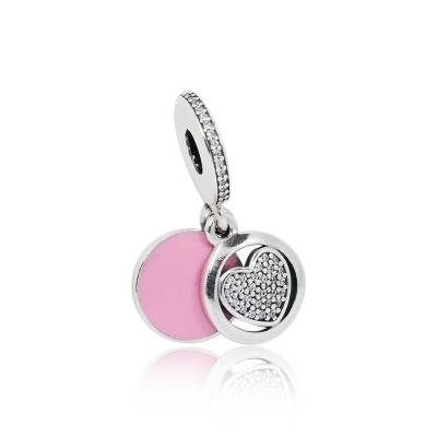 Pandora 潘朵拉 忠誠之心鋯石 垂墜純銀墜飾 串珠