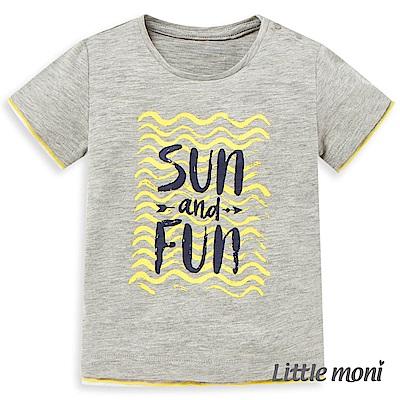 Little moni 拼接印圖TEE (2色可選)