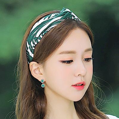 梨花HaNA 韓國綠色棕櫚陽光女孩髮帶