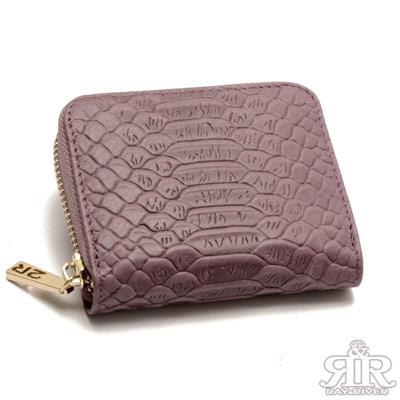 2R-牛皮雕壓鱷紋breeze展開卡包-巧紫紅