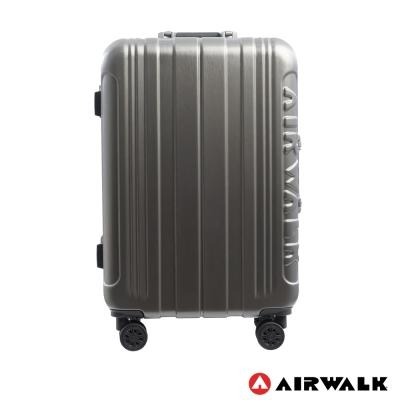 AIRWALK LUGGAGE - 金屬森林 鋁框行李箱 24吋ABS+PC鋁框箱-碳鑽灰