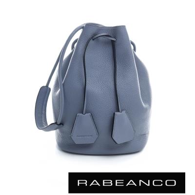RABEANCO 真皮經典束口水桶包 船塢藍