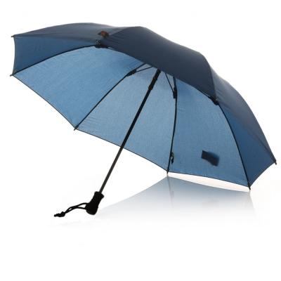 德國 EuroSCHIRM 強韌型堅固雨傘!!! 戶外抗UV風暴傘(含指北針)藍