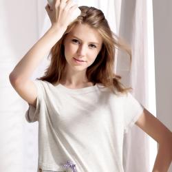 羅絲美睡衣 -甜蜜愛麗絲短袖洋裝睡衣(氣質灰)