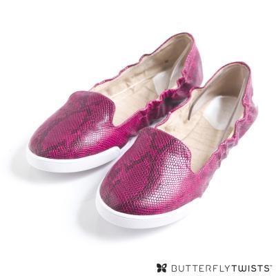 BUTTERFLY TWISTS-JADE可折疊扭轉芭蕾舞鞋-蛇紋莓果紅 @ Y!購物