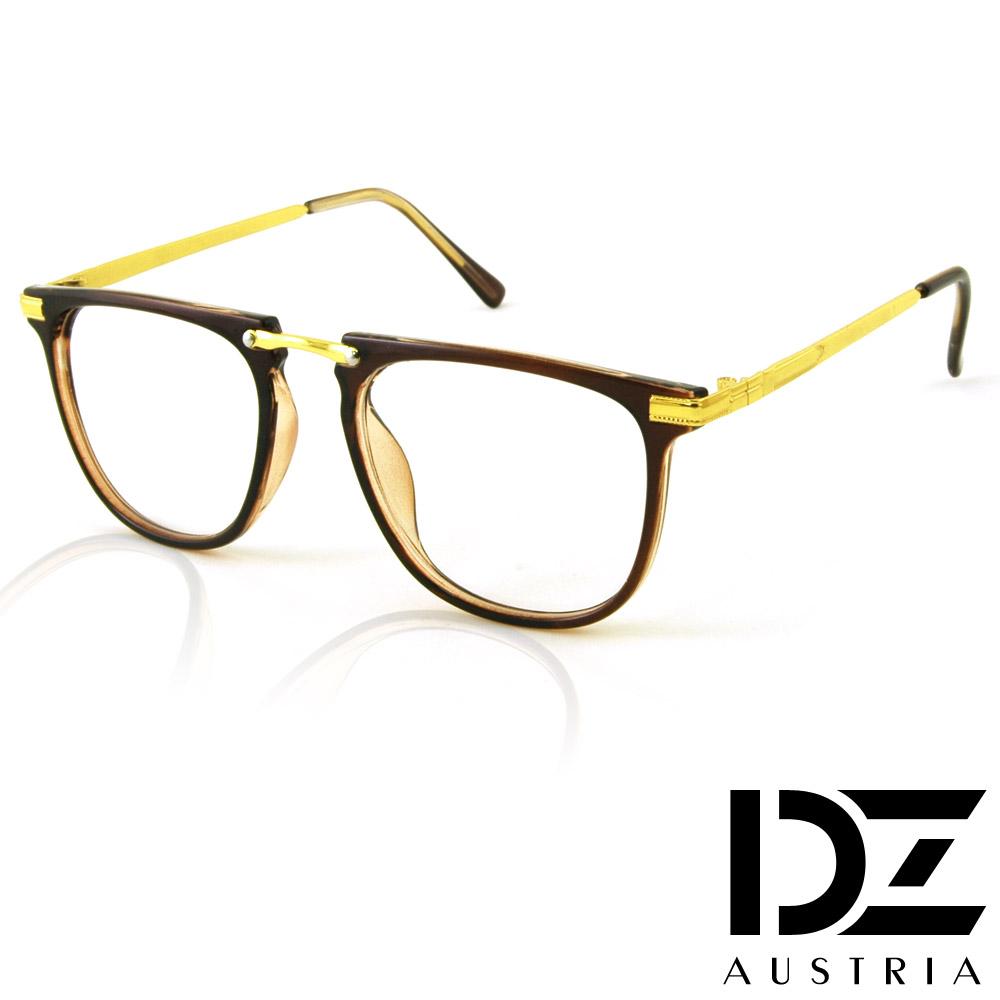 DZ 基調點線紋 平光眼鏡(金咖)