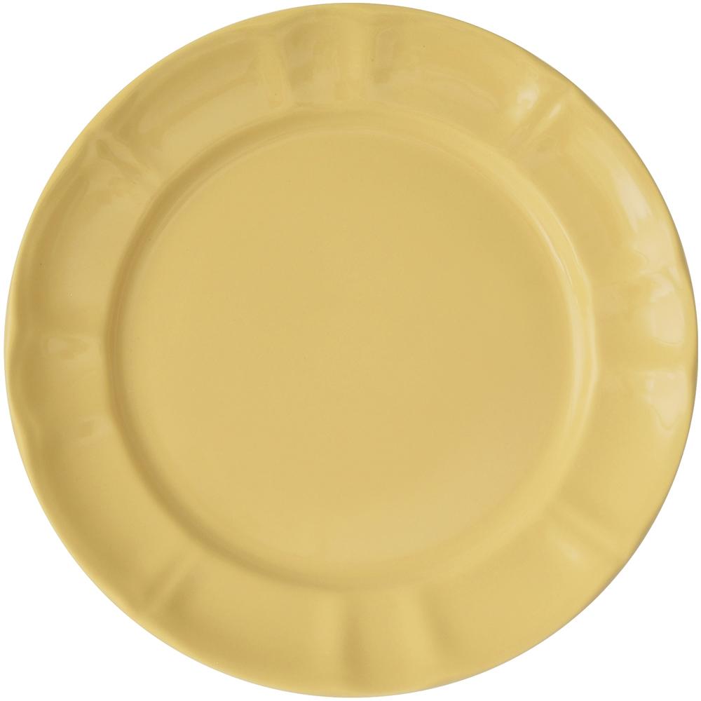 EXCELSA Chic陶製淺餐盤(奶油黃22cm)