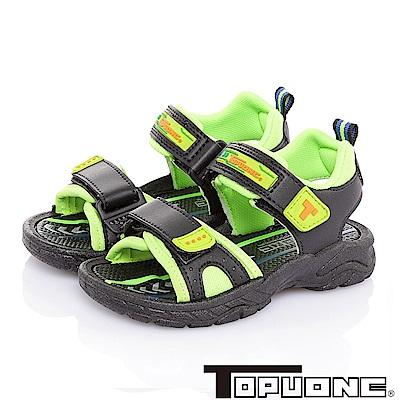 TOPUONE 舒適輕量減壓吸震防滑休閒涼鞋童鞋-黑