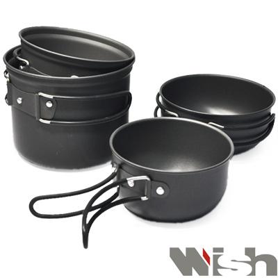 《WISH》雙人鋁合金套鍋(一大鍋+一小鍋)