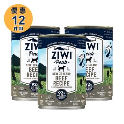 ZiwiPeak巔峰 92%鮮肉狗罐*牛肉 390G(一箱12罐)
