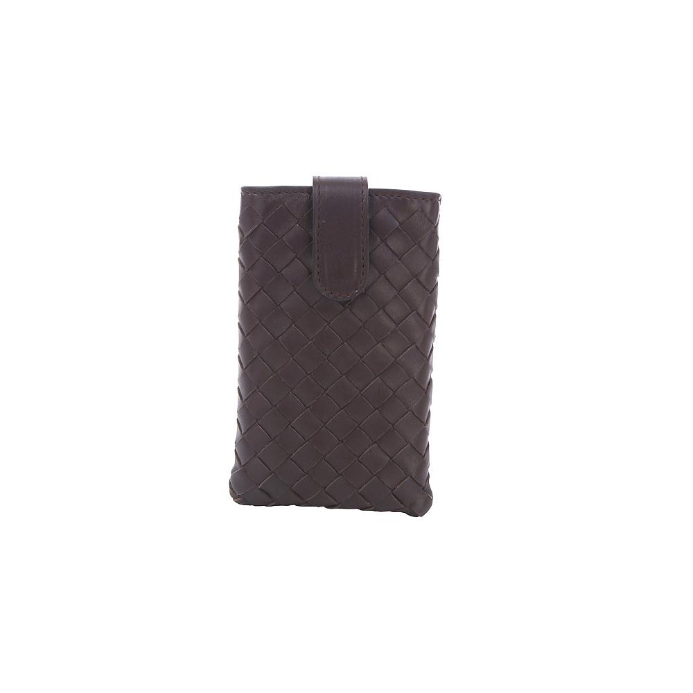 BOTTEGA VENETA 經典小羊皮編織iPhone套(咖啡色)