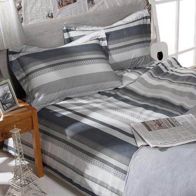義大利La Belle 紳士風采 加大四件式舖棉兩用被床包組