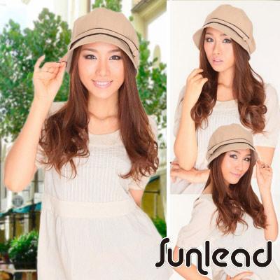 Sunlead-小顏效果-防曬美型圓頂輕量遮陽軟帽-淺褐色