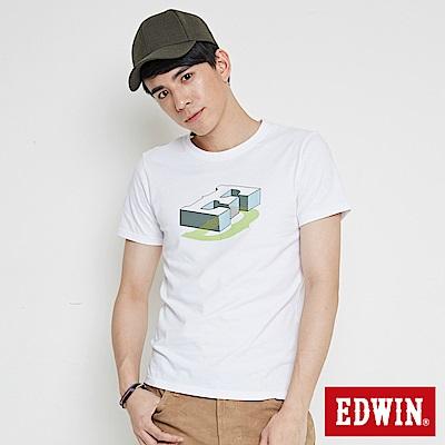 EDWIN 限定配色ED印花短袖T恤-男-白色