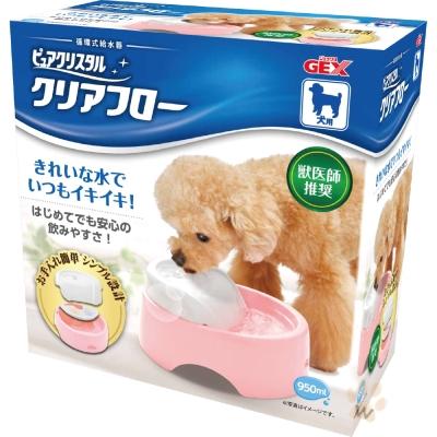 GEX 愛犬圓滿平安濾淨飲水皿-粉紅色 1入