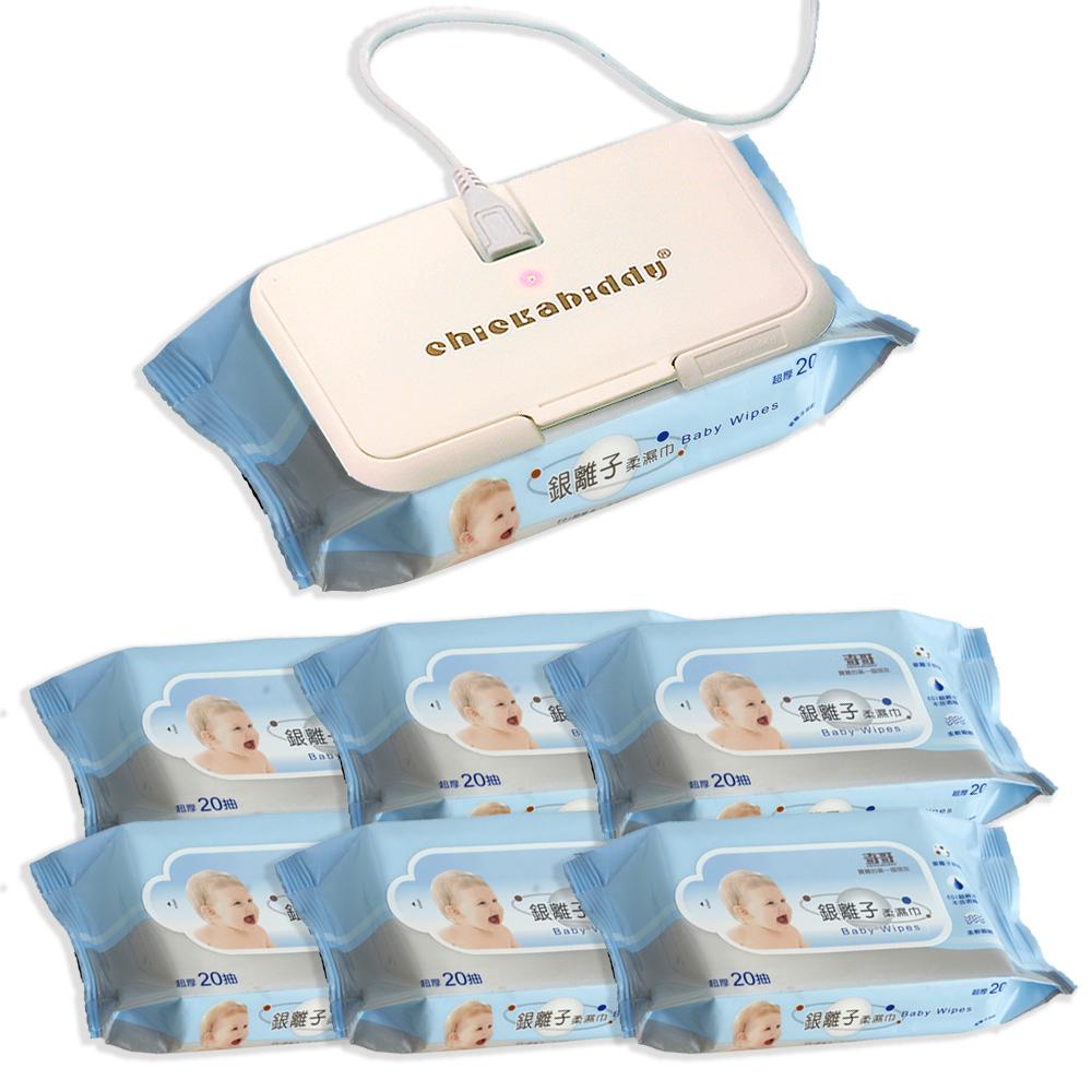 奇哥 濕紙巾溫熱蓋+溼紙巾6入(銀離子/比得兔)
