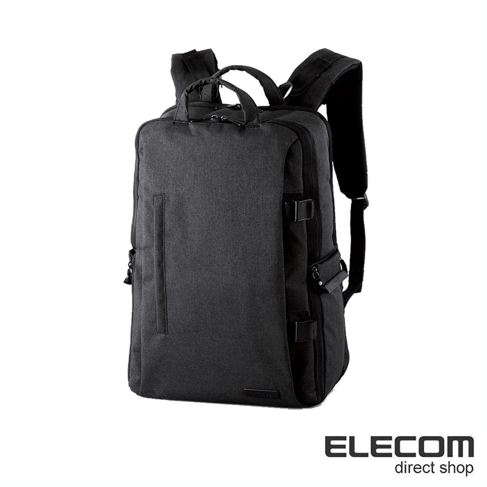ELECOM 帆布多功能質感後背包(L)S037-黑