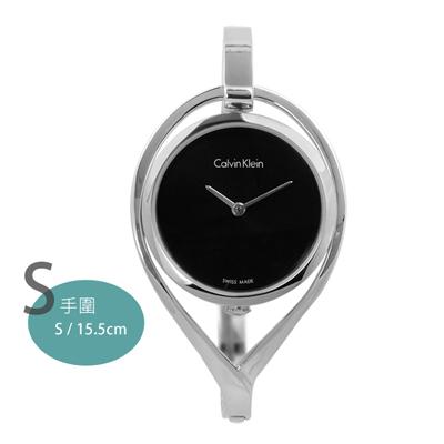 CK AMAZE 復刻婉約亮眼手環式不鏽鋼手錶-黑色/32mm